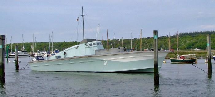 Motor Gun Boat, WW2, Royal Navy, MGB 81