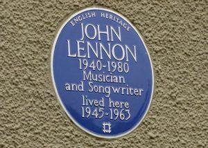 Lennon, musician, songwriter, blue plaque, Mendips
