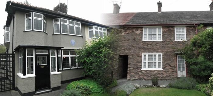 Lennon, McCartney, childhood homes, Liverpool, Mendips, Menlove Avenue, 20 Forthlin Road