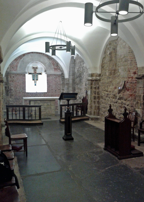St Mary le Bow, crypt, cockney