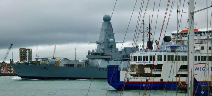 HMS Diamond, Portsmouth Harbour