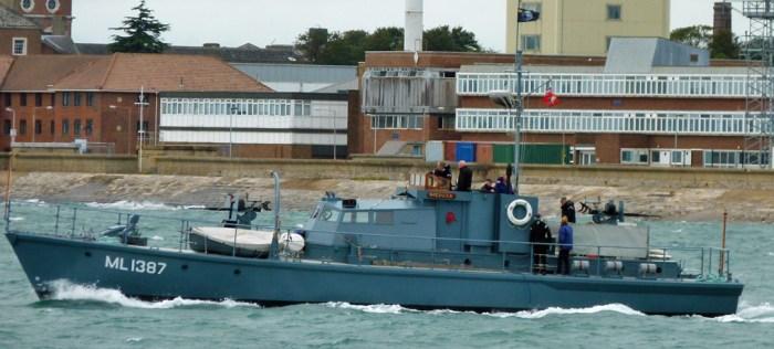 HMS Medusa, ML1387, Portsmouth Harbour