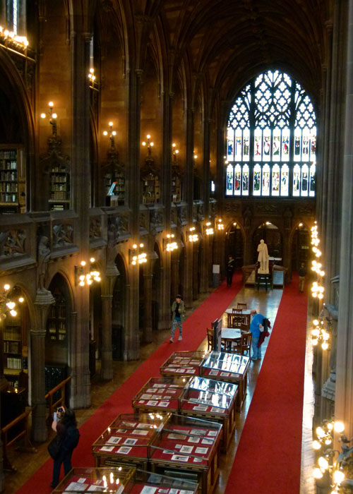 John Rylands Library, reading room, visit Manchester