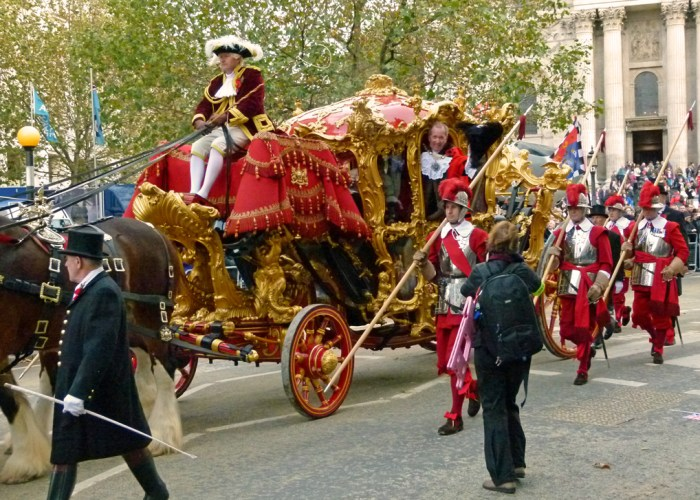 Lord Mayor's Show, City of London, State Coach, events