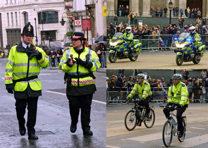 City of London Police, Police bicycles, Lord Mayor's Show