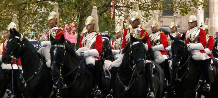 The Household Cavalry, London, pageantry