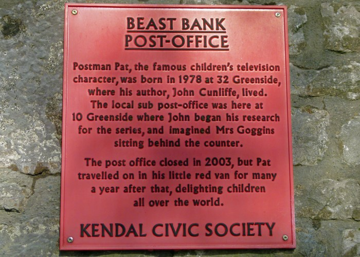 Sign, Postman Pat, Kendal, Cumbria