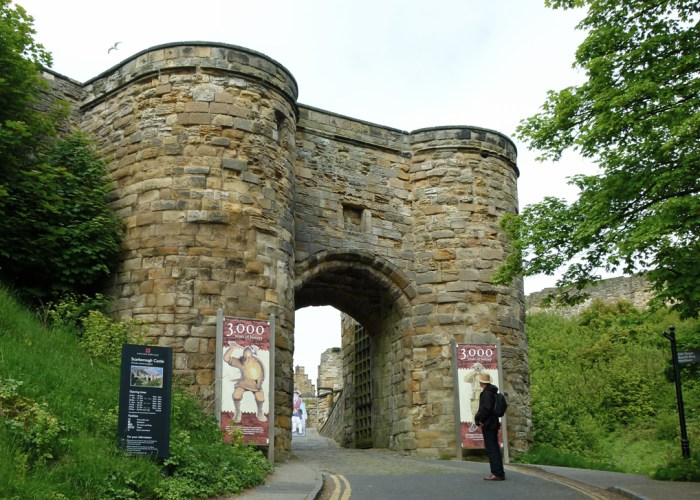 Scarborough Castle, gate, English Heritage properties, Yorkshire
