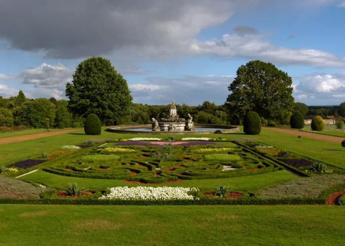 Witley Court, east parterre, gardens, West Midlands