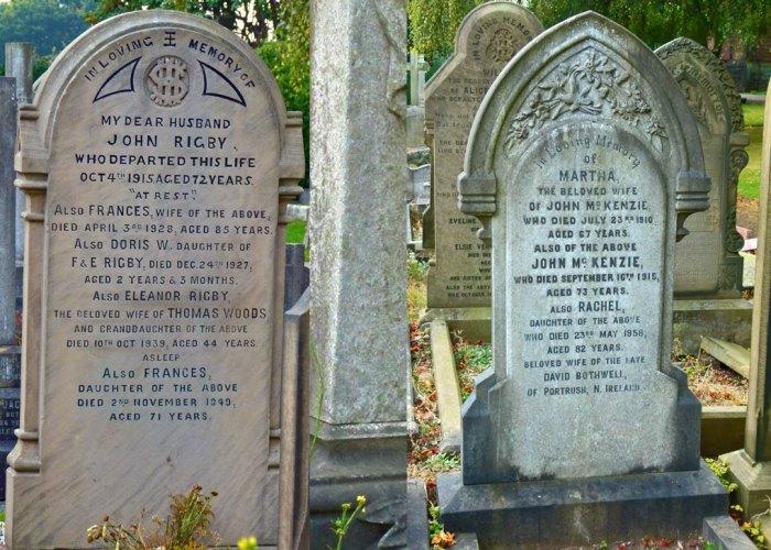 Eleanor Rigby, Father McKenzie, gravestones, Woolton