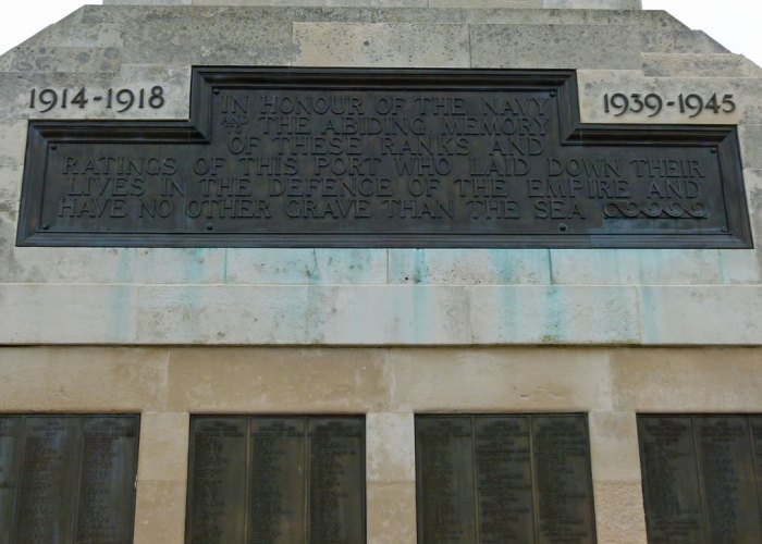 Portsmouth's Naval Memorial, no other grave than the sea