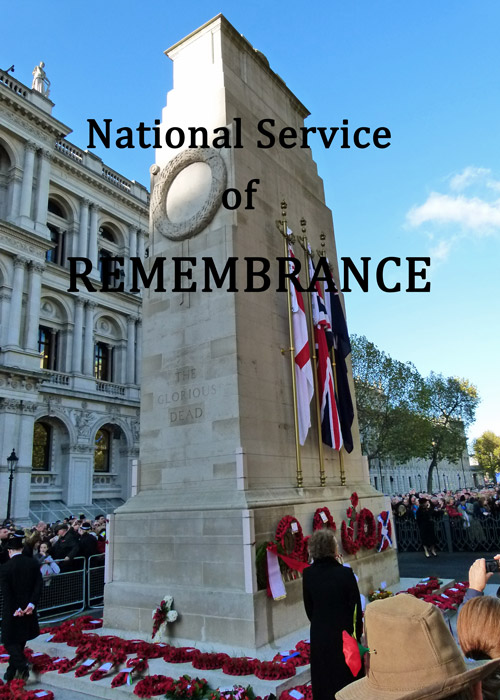 National Service of Remembrance, Whitehall, London