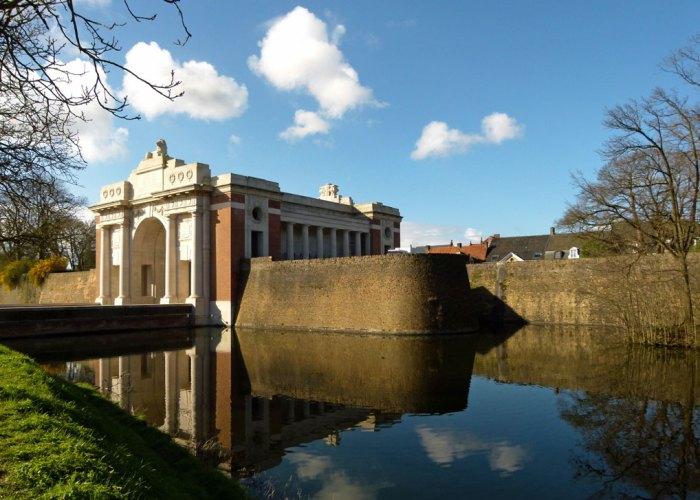 Menin Gate, Ypres, moat, Missing