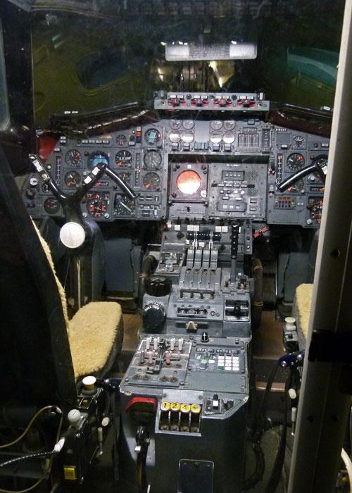 Fleet air arm Museum, Concorde 002's cockpit