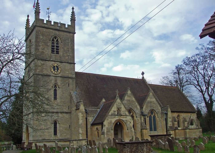 St_Martin's parish church, Bladon, Churchill