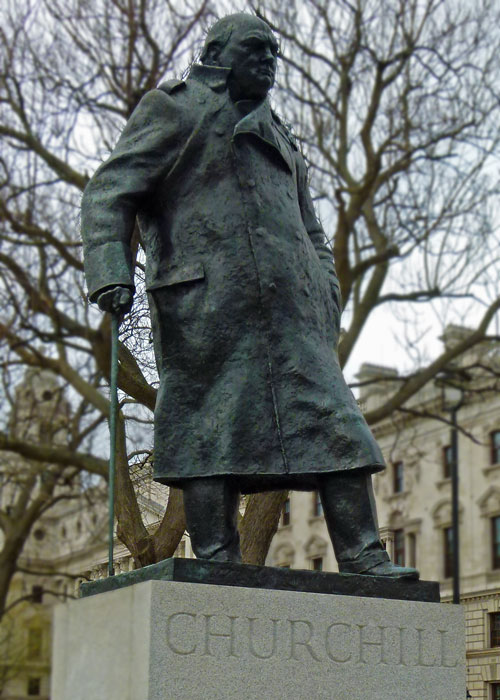 Churchill Statue, Parliament Square, Westminster