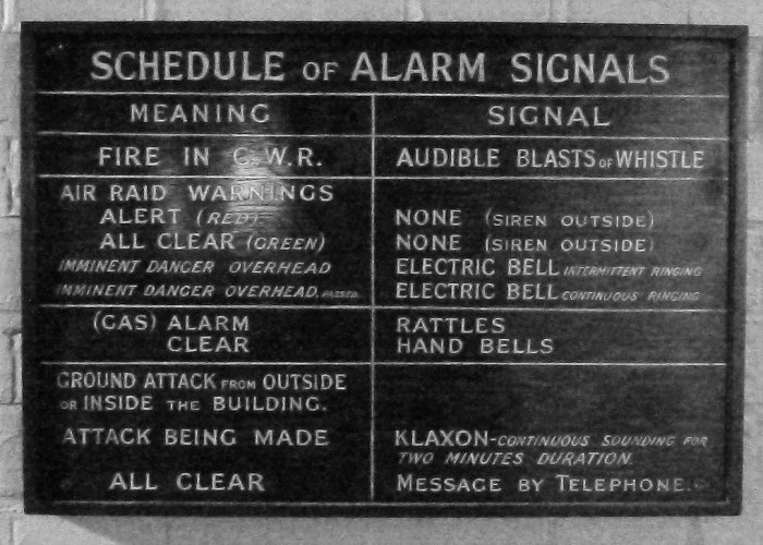 Alarms, Air Raids, Cabinet War Rooms