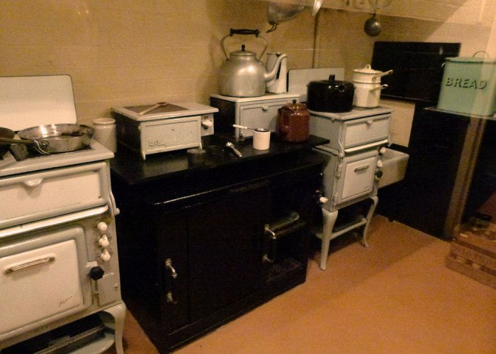 Cabinet War Rooms, state of the art kitchen