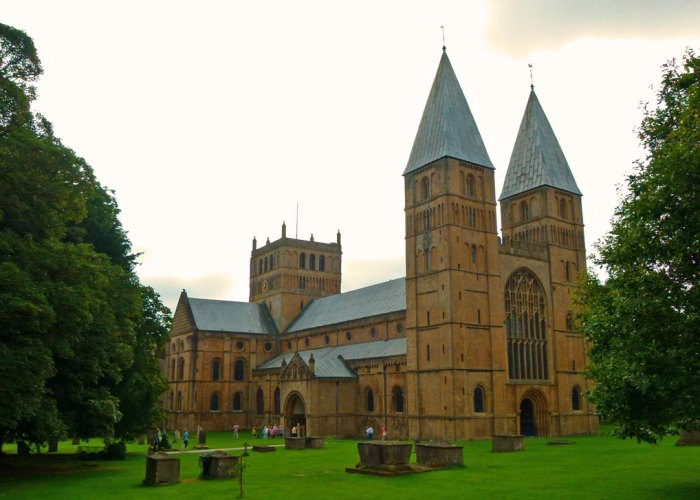 Southwell Minster, pepperpot towers, visit Nottinghamshire