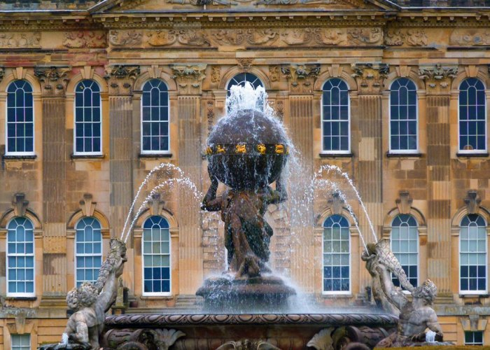 Atlas Fountain, Castle Howard, stately homes in England