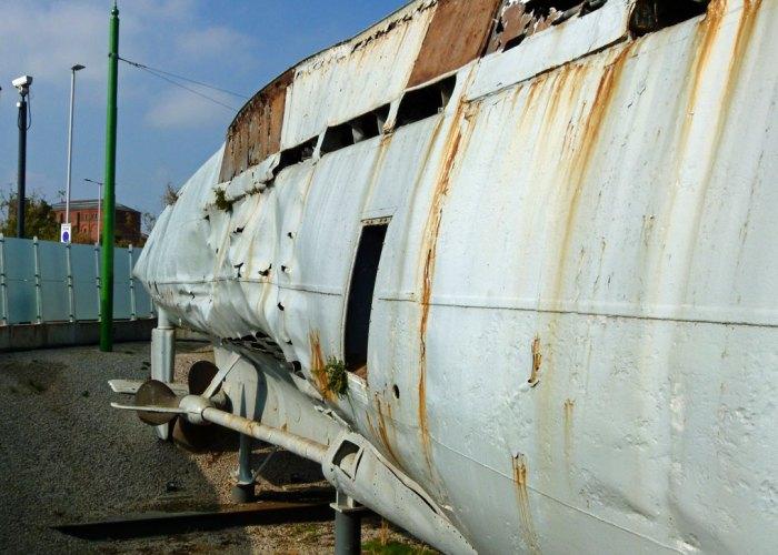 U-534, depth charge damage
