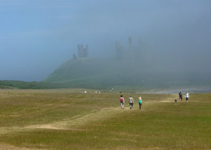 Dunstanburgh, castles in Northumbria