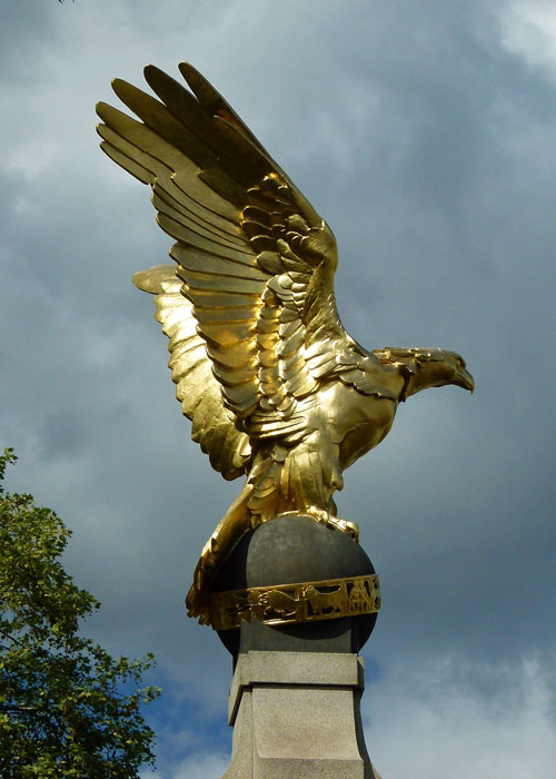 RAF, memorial, gilded eagle