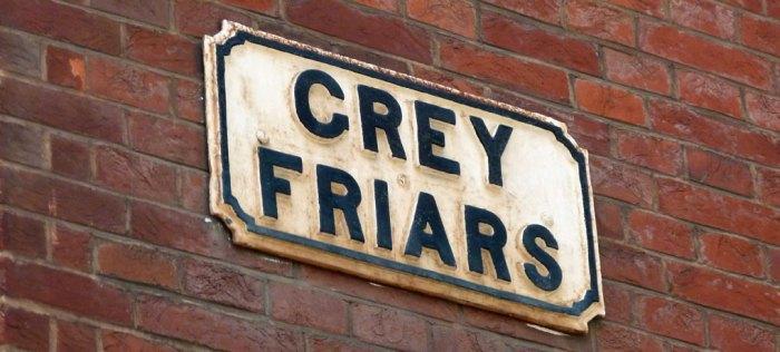 Street names, medieval, Grey Friars