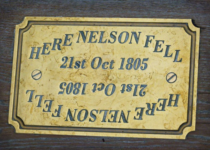 Here Nelson fell, HMS Victory