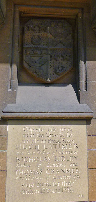 Martyrs, memorial, Balliol, Oxford
