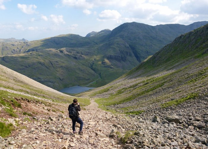 Aaron Slack, Styhead Tarn, Great Gable, walks in the Lakes
