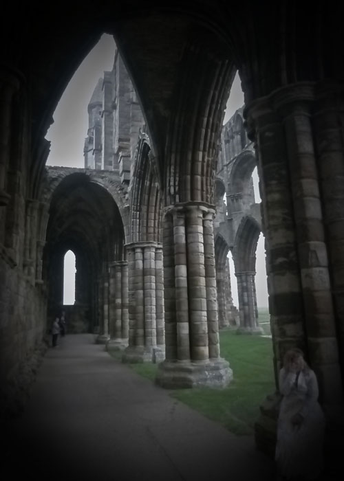 Whitby Abbey, ghosts