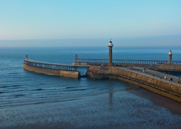 Whitby Harbour, piers