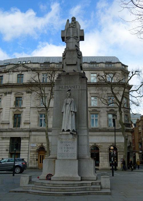 Edith Cavell, memorial, Trafalgar Square