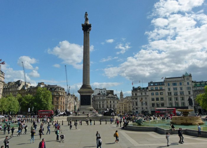 Trafalgar Square, Nelson's Column, visit London