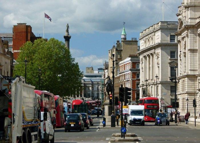 Trafalgar Square, Whitehall, visit London