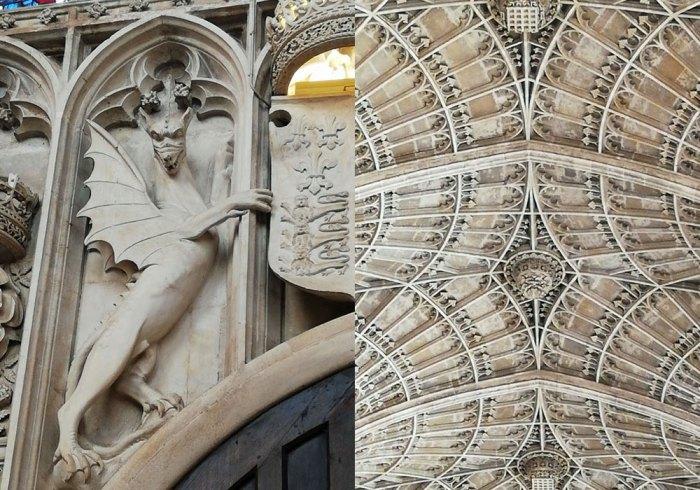 Dragon of Cadwallader, fan vault ceiling, King's College