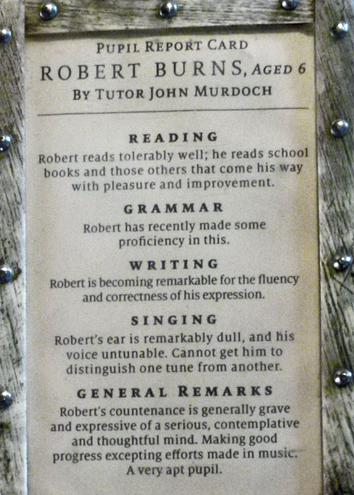 Robert Burns, school