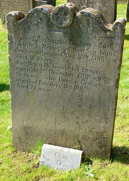 "Tam o Shanter's"" grave, Kirkoswald"