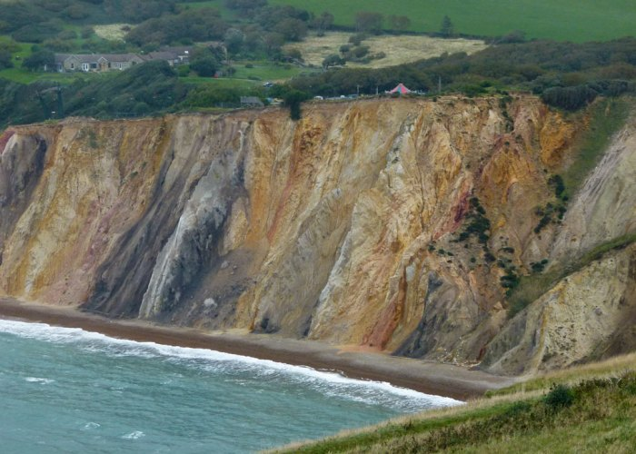 Alum Bay, coloured sands, Isle of Wight