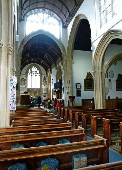 St_Cyriac's, Lacock, nave