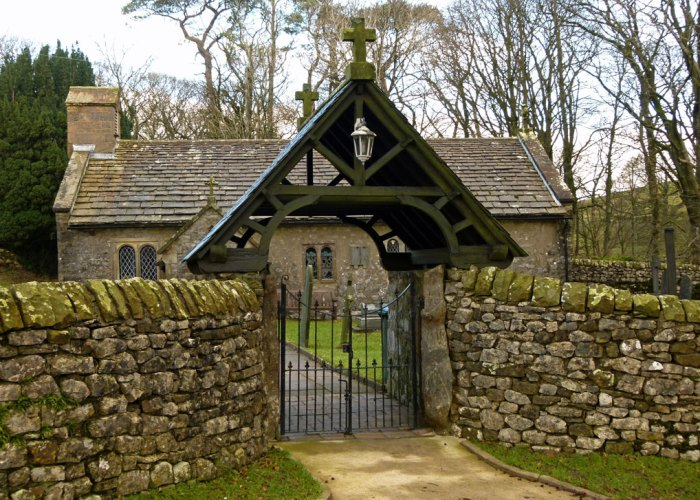 The lych gate at Chapel-le-Dale