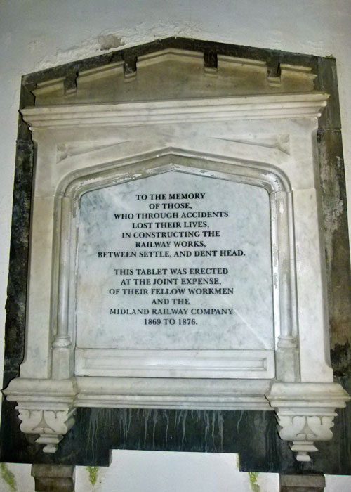 Memorial, deaths at Ribblehead, Chapel-le-Dale