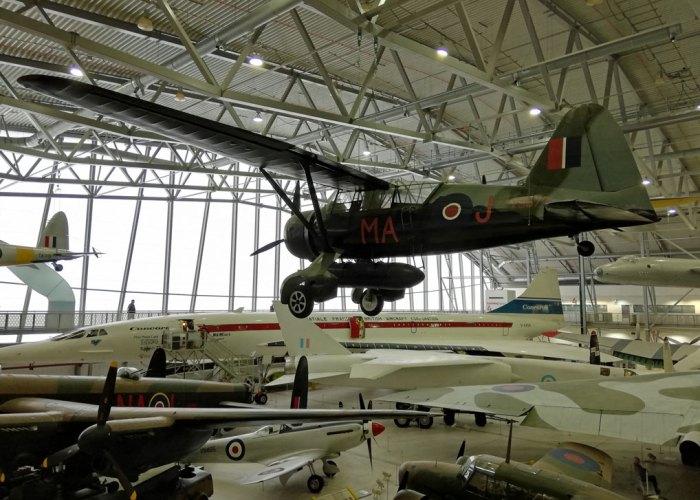 Duxford, Lysander, Concorde, Lancaster, Spitfire.