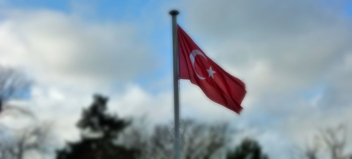 Turkish flag, Gosport