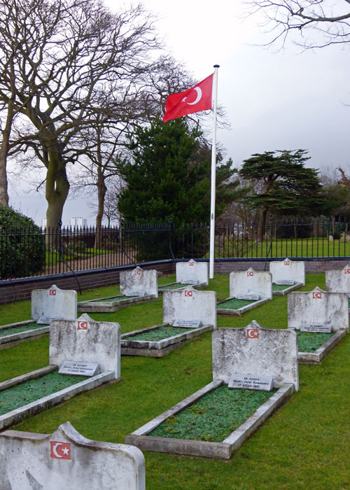 Turkish sailors, graves, Gosport