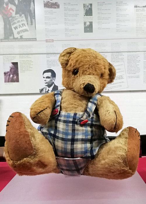 Alan Turing's childhood teddy bear, Bletchley Park