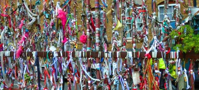The railings at Crossbones, Visit London