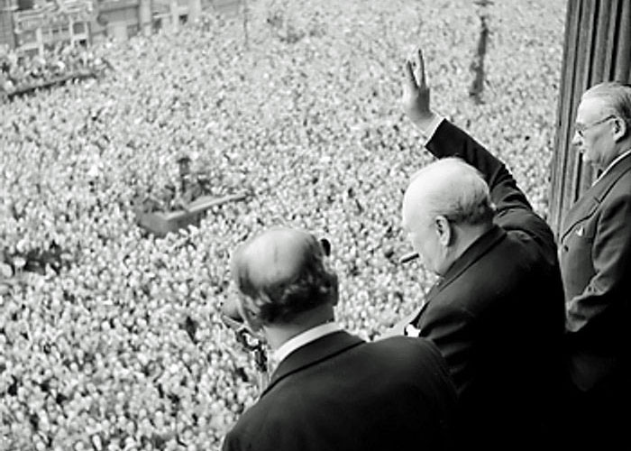 VE Day, Churchill