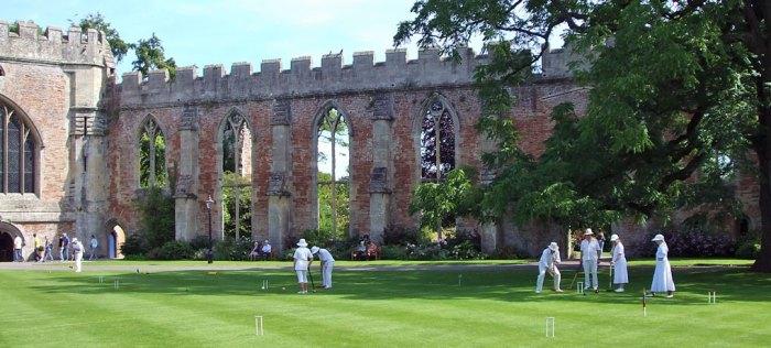 Croquet, Wells, Bishops' Palace